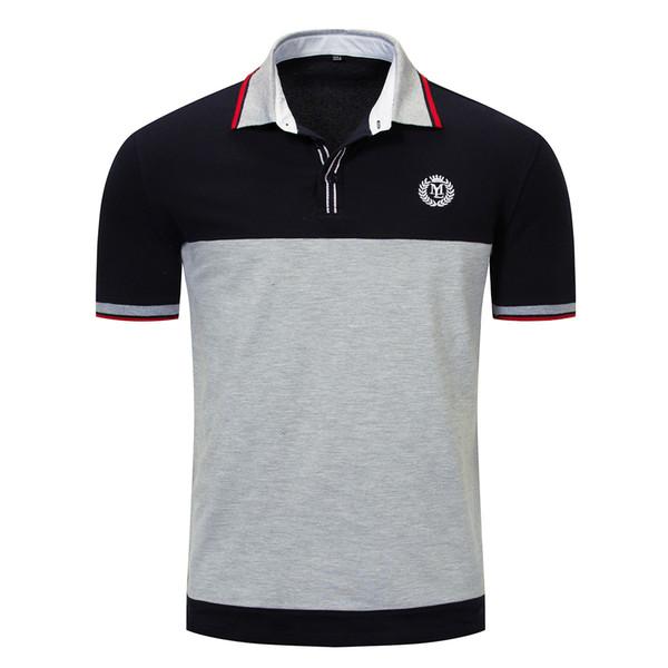 Moda para hombre Camisas polo Diseñador de verano Camisetas Manga corta Camisetas para hombre Camisetas bordadas Camisas para hombre Ropa 2 colores M-3XL Tamaño