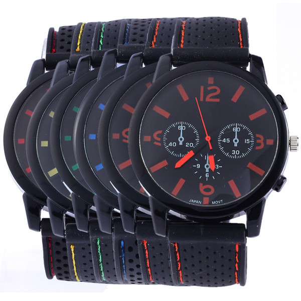 2019 Fashion GT Racing car silicone watch unisex men women amry sport Military watches outdoor jelly silicone quartz wrist watches for men