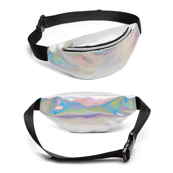 PVC Laser Women Waist Bag Fashion Waterproof Lady Waist Pouch Portable Crossbody Bag Zipper Shoulder Bags Outdoor Large Bags BH1620 TQQ