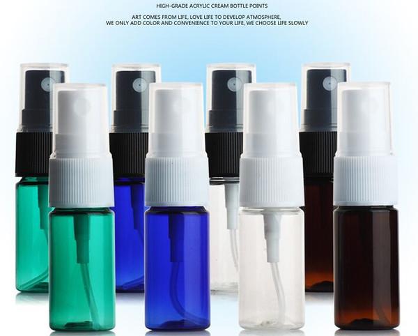 8 pçs / lote, NOVO 10 ml Mini Frasco De Spray De Vidro Portátil, Vazio Recipiente De Perfume Cosméticos Com Névoa Bocal Atomizador, pequenos Frascos De Amostra
