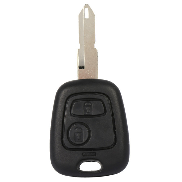 2 Buttons Uncut Blade White Car Key Remote Fob Shell Case Replacement For Peugeot 206