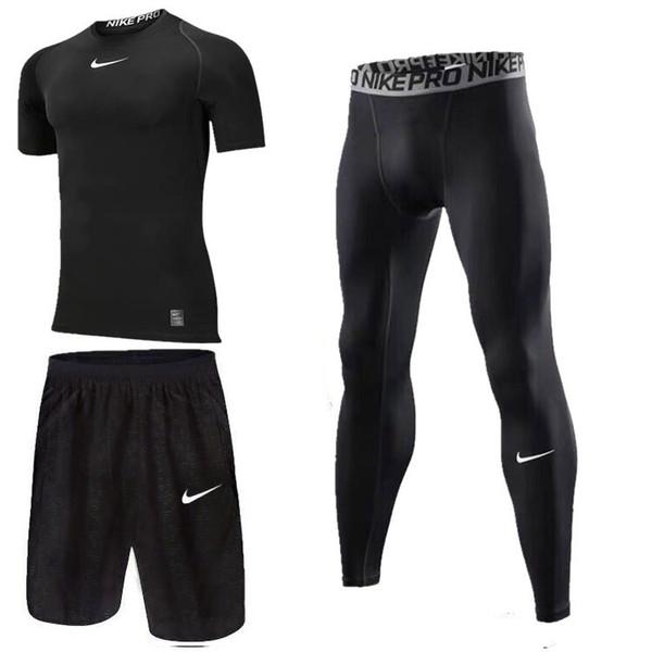 Nouveau costume de fitness décontracté pour hommes en trois pièces pour hommes
