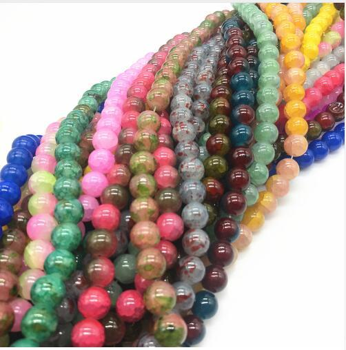Latest Explosion Hot 6-8-10mm Czech Glass Charm Floral beads Loose Spacer Beads Stone DIY Jewelry Wholesale