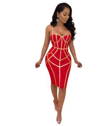Frauen Sexy Abendkleid Spaghetti Strap Sexy Bodycon Kleider Backless Skinny Kleidung