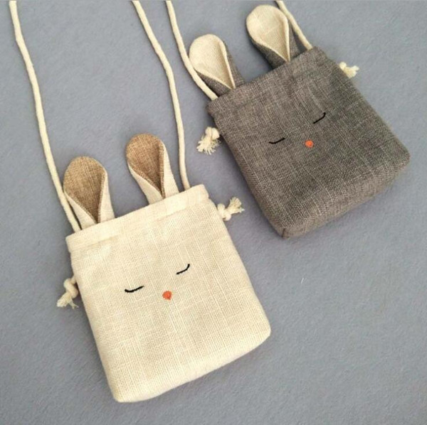 Harajuku New Cotton Linen Purse Bag Travel Drawstring Storage Bags Sundries Small Beam Rope Pouches Handmade Candy Bag