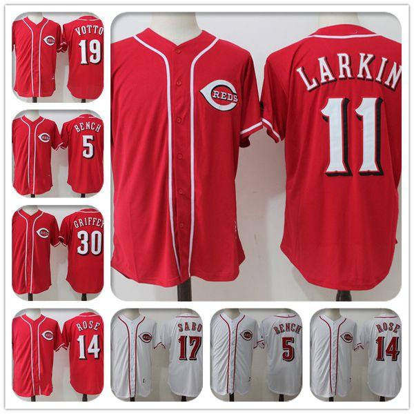 buy online 8a6d7 d8cd9 2019 Cincinnati Reds 17 Chris Sabo 5 Johnny Bench Jersey 11 Barry Larkin  Jersey 19 Joey Votto 14 Pete Rose A3 From Best2018jersey, $32.02    DHgate.Com