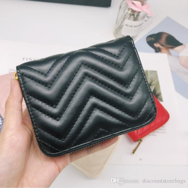 2019 New Paris Style Designer Mens Wallet Famous Women Holders Special Leather Multiple Short Zippy Small Wallet With Box
