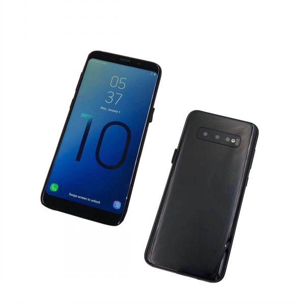 Goophone S10 com impressão digital Android telefone celular MTK6580 Quad Core 1 + 8g show Octa núcleo 4G RAM 128G ROM mostrado 4G real 3G smartphone DHL