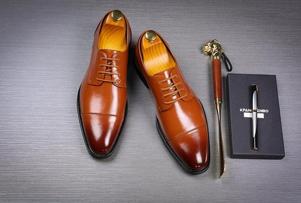 Handmade New Leather Men Dress Shoes Evening Party Wedding Shoes Daily Office Suit Shoes Cow Suede Chaussures Hommes Big Size 48
