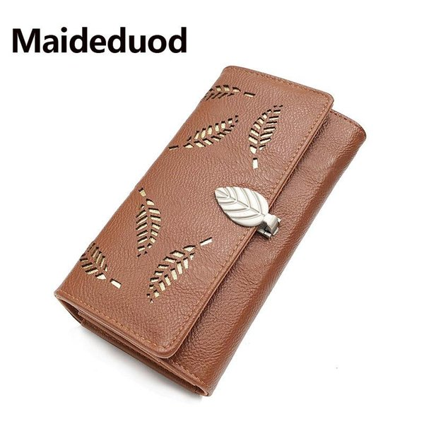 Hot sale New Money Wallet For Women Leather pu Ladies Card Holder Purse Zipper Long Design Large Capacity Femalehollo Wallets