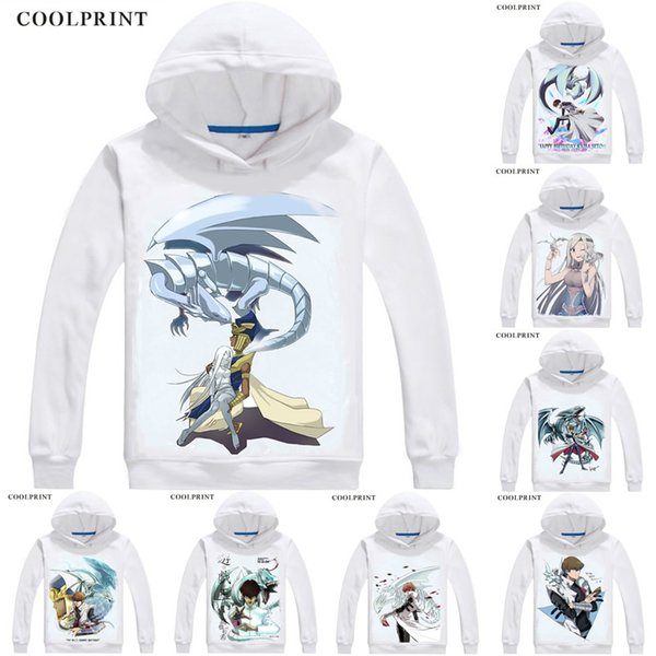 Blue Eyes White Dragon Buruuaizu Hoodies Duel Monsters Yu-Gi-Oh King of Games Men Sweatshirt Streetwear Anime Hoodie Long Hooded
