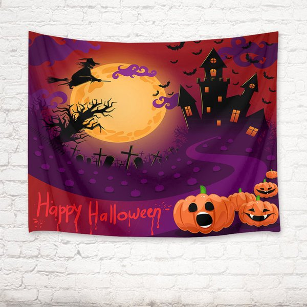 Halloween Party Magic Castle Decor Tapestry Wall Hanging Blanket For Bedroom New