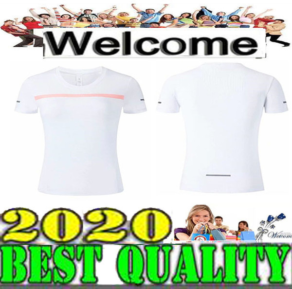 top popular best quality Women's Short Sleeve T-Shirt 3 Colors White black green Workout Vest Exercise Clothes Running Jogging Size S-XL 2019