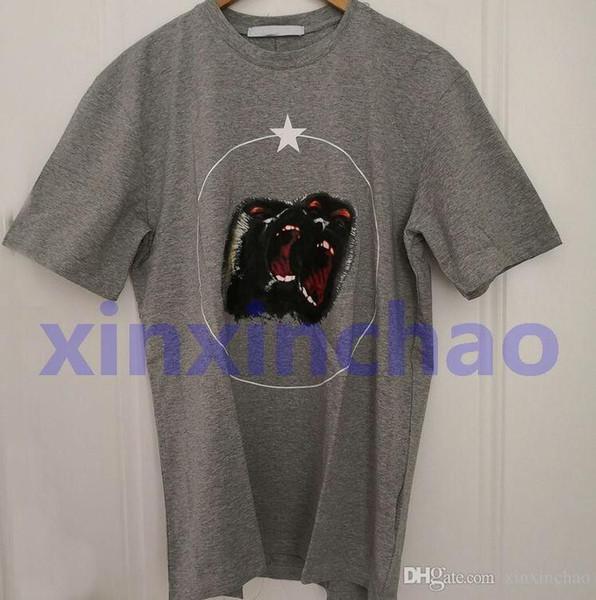 19ss yaz moda Marka erkek Roar orangutan yıldız t gömlek Yüksek Kalite Moda gelgit marka giyim Pamuk Tshirt Tasarımcı TShirt ...