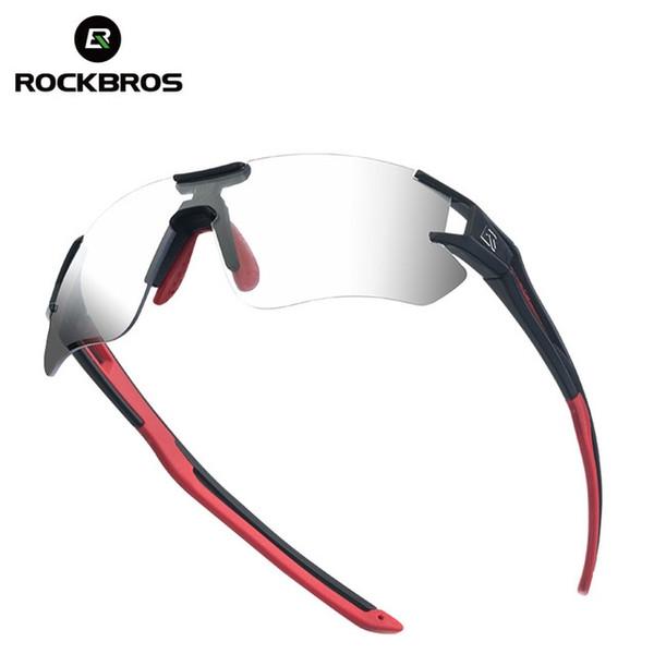 Rockbros Photochromatic Fahrradbrille UV400 Radfahren Sonnenbrillen Rennrad Reiten Schutzbrillen Mountainbike Fahrrad Brillen # 110073