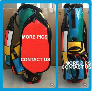 top popular New Model Colorful Top Quality PU Golf Bag Cart Bag Actual Pictures Contact Seller 2019