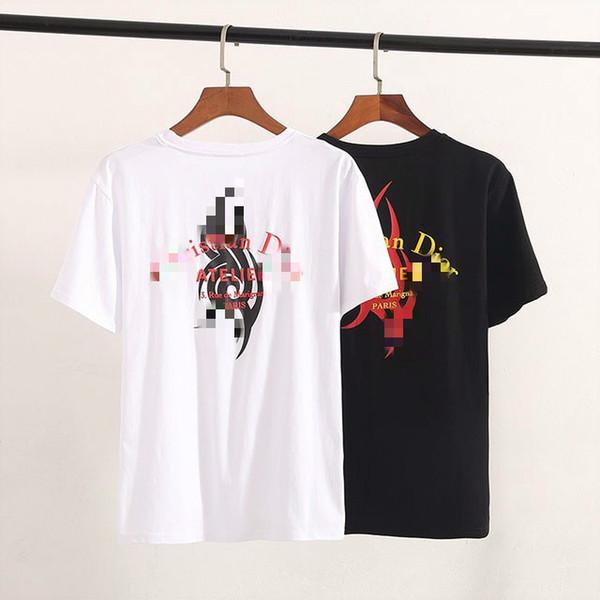 Yaz Yeni Rahat Pamuk Kısa kollu Tişört High-end Yakışıklı erkek Yuvarlak Boyun Patlama Modelleri Moda Kişilik MaleHP 20980