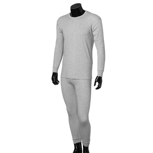 New Mens Nightwear Long Sleeve Cotton Pyjama Suit With Trousers Warm Solid Pyjama Casual Home Clothes Pijama Fashion