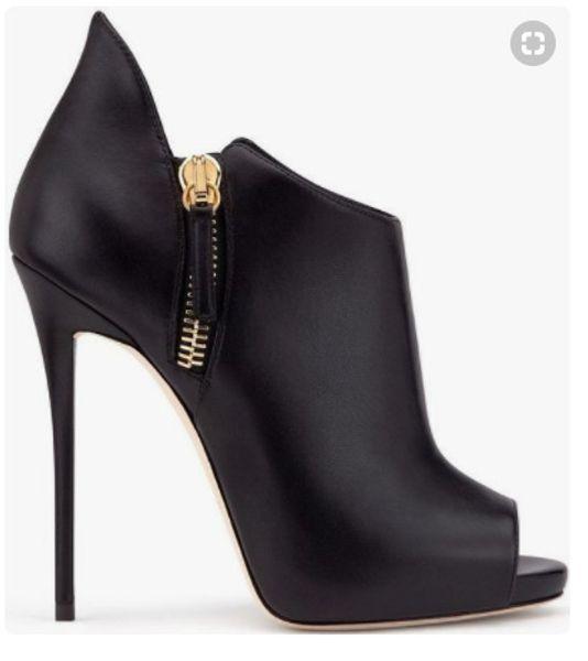 T-show mujer moda peep toes de tacón alto sexy discoteca zapatos de pasarela estilete sandalias de mujer cremallera lateral estilete súper botas de tacón alto