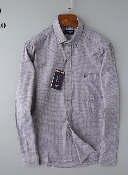 Erkek Moda Gömlek Uzun Kollu Katı Renk Günlük Gömlek 2019 Kış Yeni bluz İnce mandalina yaka Çocuklar OverShirt165