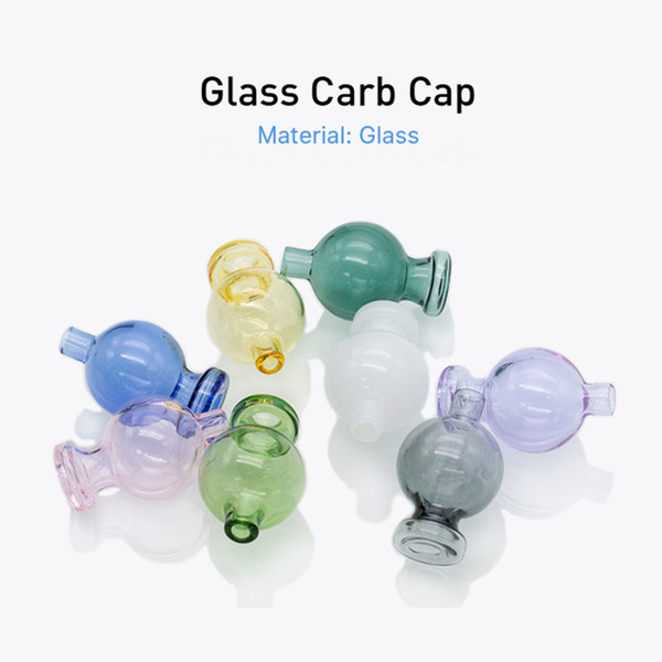 best selling Glass bubble carb cap Flat top Carb Cap fit for 20mm 25mm quartz banger nail X XL banger Glass Water Pipe