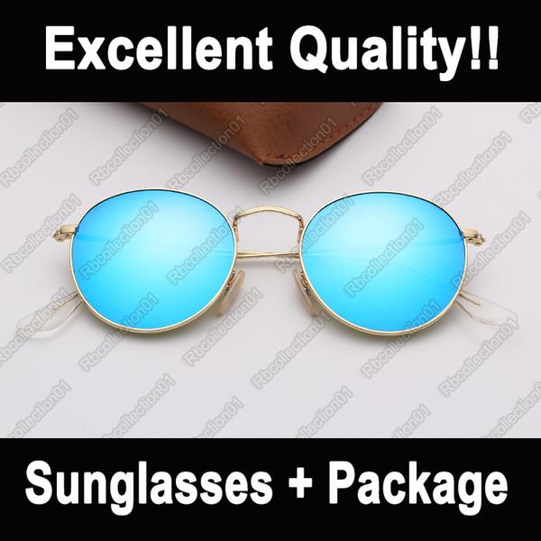 occhiali da sole Ray Moda occhiali da sole rotondi di marca metallo mens sole vetri Donna des lunettes de soleilwith UV400 occhiali di protezione solare