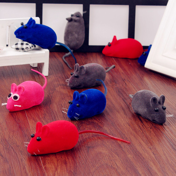 top popular Colorful Mouse Cat Toy Realistic Fur Mice Mouse Cat Toys Animal Squeaky Rubber Toys Pet Supplies 2021