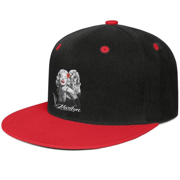 Marilyn Monroe mens and womens flat brim hats Red snapback designer custom hats custom kids design your own fashion stylish cute unique b