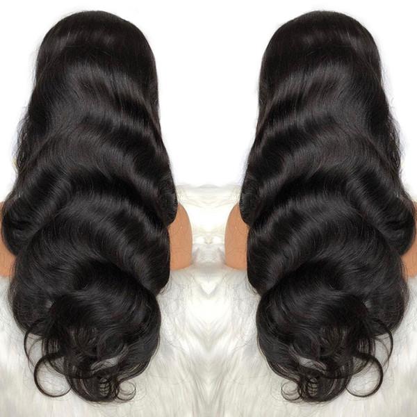 Parrucche frontali in pizzo pieno Body Wave 360 pre pizzicate con parrucche per capelli umani Remy capelli per bambini naturali per le donne nere