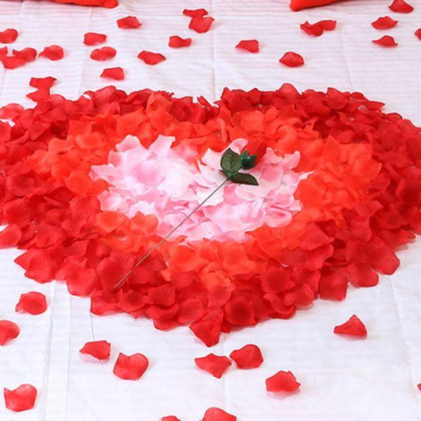 100Pcs Simulation Rose Petals Festival Party Table Flower Confetti Wedding Decoration DIY Engagement Wedding Party Supplies 7Z
