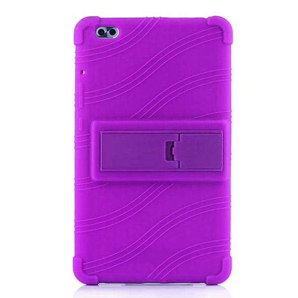 50pcs Soft TPU Back Cover Silicone Case with Stand for Huawei Honor Waterplay 8.0 inch HDL-W09 HDL-Al00 Tablet