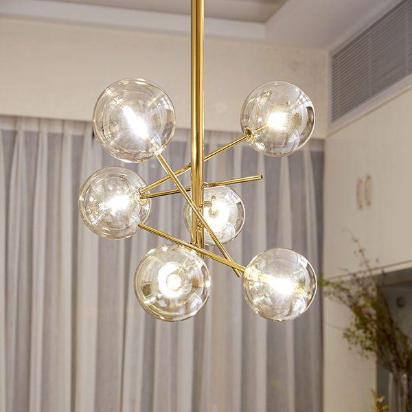 Modern Creative Glass Pendant Light magic beans Glass Bubbles Study Livingroom Restaurant Cafe Decoration Lamp led