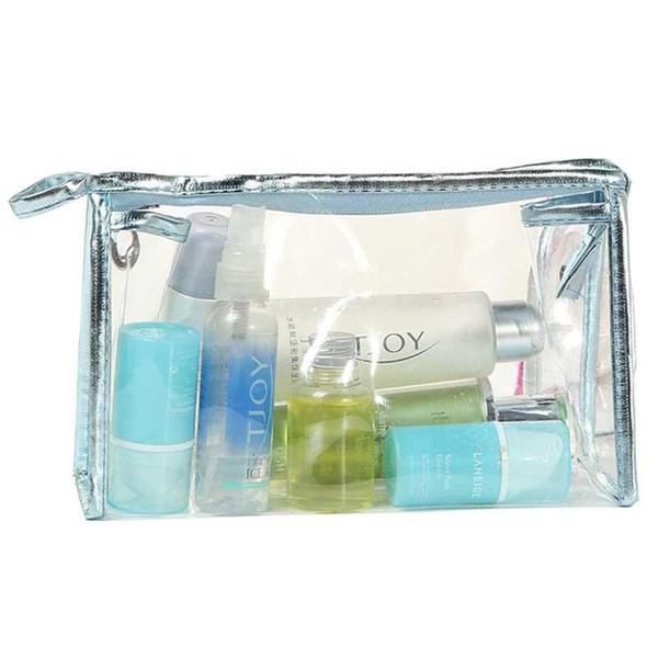 Wholesale- 2017 Fashion Women Cosmetics Bags Clear Makeup toiletry Bag Travel Pouch Top Quality Travel Organizer Bolsa Feminina