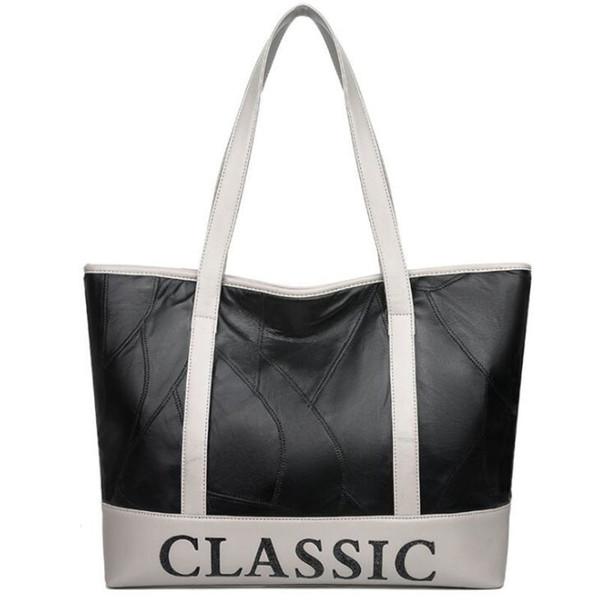 goood quality Brand Autumn Splice Pu Leather Handbag Women Letter Classic Shoulder Bag Female Sac A Main Ladies Handbags