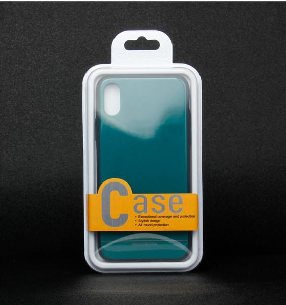 Simple al por menor clara transparente de PVC Caja de empaquetado de la caja del teléfono para Samsung S10 S10 Plus iPhone 11 11 Caja del teléfono de Pro