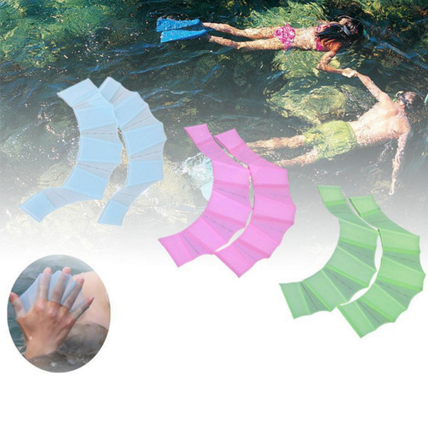 2019 Swimming Hand Finger Fin Learning Swimming Pool Accessory Finger Wear  Hand Web Flippers Training Diving Gloves Swim Pool Paddles From Mart09, ...