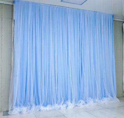 Tela azul claro + hilo blanco puro