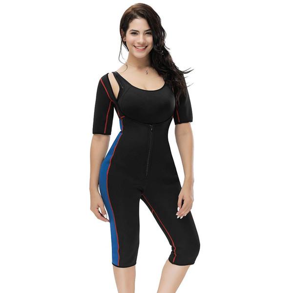 Женщины всего тела формирователь спортивный пот неопреновый костюм, талия тренер боди для похудения сауна костюмы горячий пот костюм сауны формирователь костюм для похудения