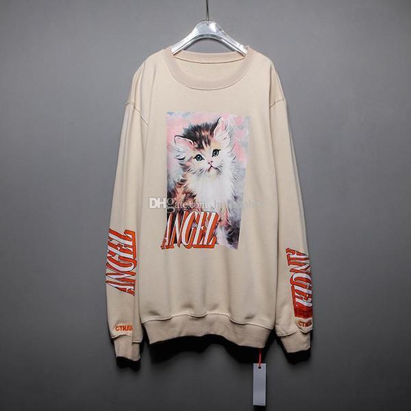 Heron Preston Ange Mens Designer Sweat-shirts de luxe Chat Hommes T-shirt Héron Preston Hommes Femmes Hip Hop T-shirts manches longues