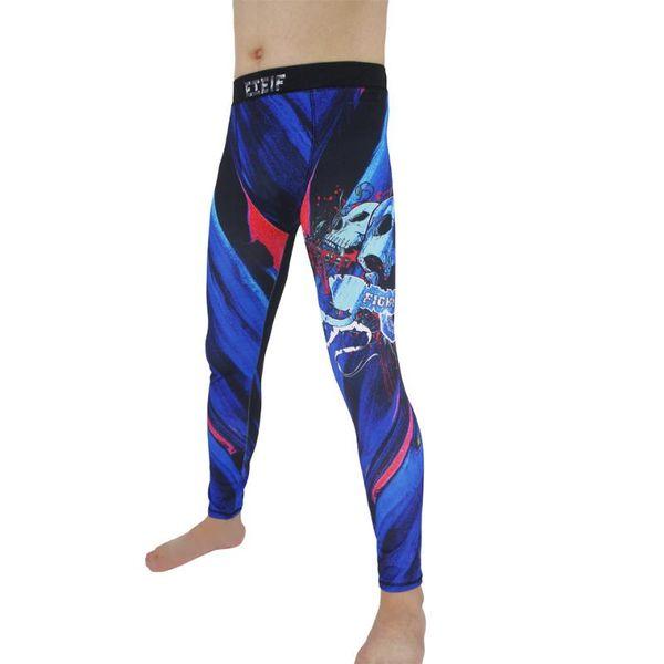 suotf quick drying breathable blue skull boxing shorts tiger muay thai shorts kickboxing muay thai boxing