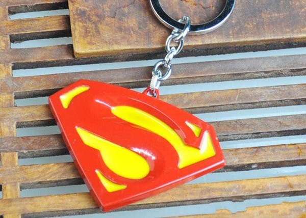 new Hot Keychains movie Superman fashion key chains pendant Zinc Alloy keychain Ring free shipping