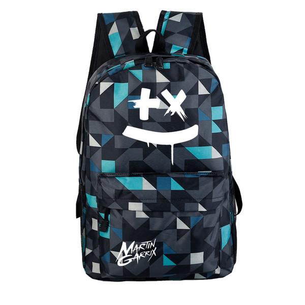Marshmello школьная сумка сладкая вата электронная музыка DJ-стиль рюкзак массовая настройка трансграничных для поколения жира