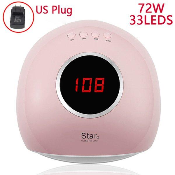 72W Pink US Plug