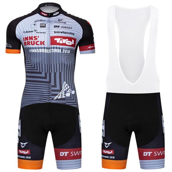7f22603224196 2019 Tirol Team Cycling Jerseys Short Sleeves Jersey Bib Shorts Sets Summer  Outdoor Bike Sports Cycling Clothing Pro Mountain Bike Jersey Bike Short ...