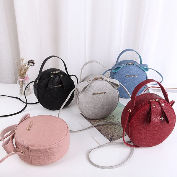 Fashion Women Shoulder Bag Round Shape Ladies Crossbody Sweet Cute Messenger Bags Designer Handbags Portable cosmetic bag LJJV388