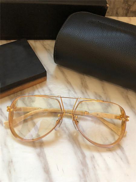 new men brand optical glasses new york designer sunglasses pilot metal frame goggles style HD lens