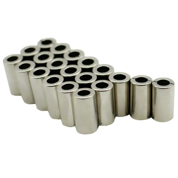 20pcs Ndfeb Magnet Ring Dia. 8,3x4,5x15 mm Aimants Diamétriques Magnétiques N48m Aimants Permanents Au Néodyme, Terres Rares Permanent