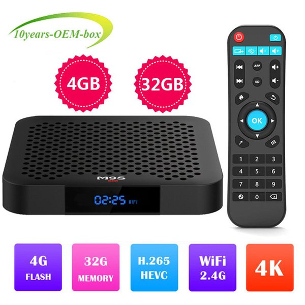 2019 Smart TV Box Android 8 1 M9S J2 4K RK3328 QuadCore 4G/32G USB3 Top TV  Box Option 2 4G WIFI Media Player Better H96 X96 MAX MX10 Best Android Tv