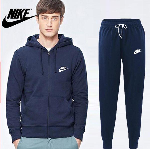 Sweats à capuche d'homme Nike Sportswear Homme Pantalon de jogging Jogging Jogger Ensembles Col Roulé Survêtements de sport Survêtements 1243