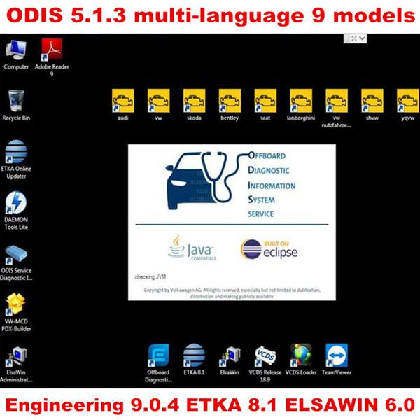 Vas 5054A Odis 5.0.4 Software mit Engineer 9.04 EKA 8 und Elawin 5.3 VASPC 19.01 VAG ODIS 5.0.4 360 GB SSD Support Online-Login